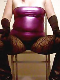 Boots, Pvc, Nylons, Tight dress, Tight, Posing