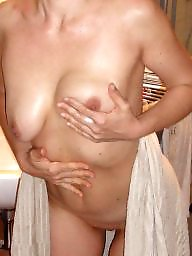Saggy, German, Saggy tits, Hanging, Hanging tits, Mature tits