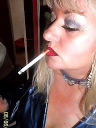 Smoking, Fingering, Finger, Blonde milf, Smoke, Play