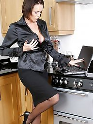 Upskirt, Kitchen, Lady, Upskirts