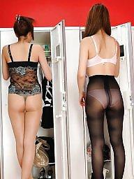 Japanese, Asian, Asian pantyhose, Asian stockings, Japanese pantyhose, Girls