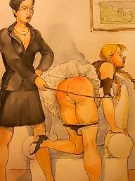 Cartoons, Spank, Spanking, Spanked, Bdsm cartoon, Art