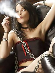 Smoking, Blonde mature, Smoke, Brunette mature, Mature blonde
