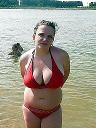 Russian, Beach, Busty, Woman, Russian busty, Russian big boobs