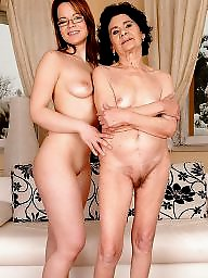 Mother, Old and young, Nude, Mature amateur, Mothers, Mature young