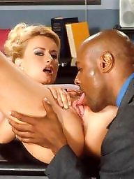 Secretary, Bbc, Fucked, Guy, Blonde interracial, Big black