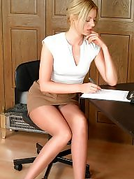 Office, Upskirts, Slim, Tight, Tanned, Tights