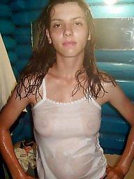 Wet, Shirt, T shirt, Wetting