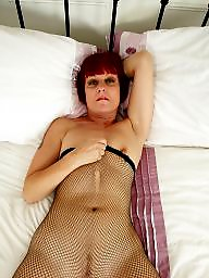 Pantyhose, British, Mature pantyhose, British mature, Fishnet, Old mature