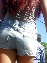 Jeans, Spy, Sexy, Romanian, Teen ass, Shorts