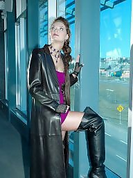 Boots, Latex, Leather, Pvc, Mature porn, Mature leather