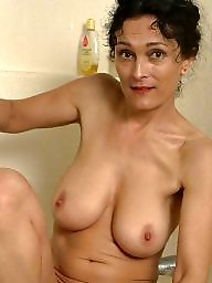 Bathroom, Wife mature, Mature shower