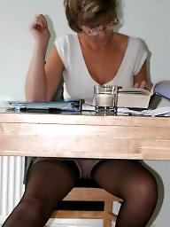 Stockings, Office, Uk mature, Mature uk