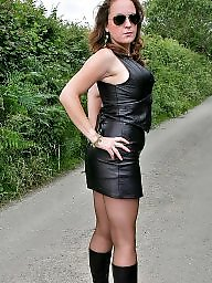 Latex, Leather, Upskirts, Milf upskirt, Upskirt milf, Milf leather