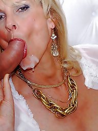 Facials, Mature blowjob, Mature facial