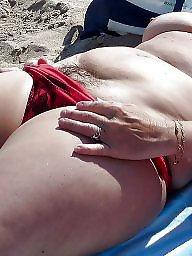 Mature beach, Vacation, Mature big boobs, Horny mature