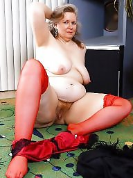 Mature chubby, Chubby mature, Red, Mature stocking