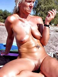 Beach, Naked milf, Beach milf, Milf flashing