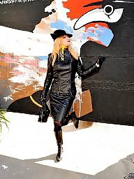 Leather, Latex, Boots, Pvc, Mature boots, Mature latex