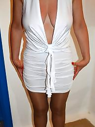Dress, Dressed, Dressing, Hot wife, White, Mini dress