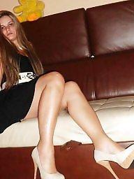 High heels, Nylons, Candid, Teen nylon, Nylon teen, Heels