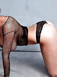 Boobs, Fishnet, Brunette