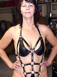 Latex, Leather, Mom, Mature mom, Mature leather, Amateur moms