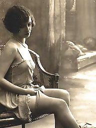 Vintage, Lady, Posing, Ladies