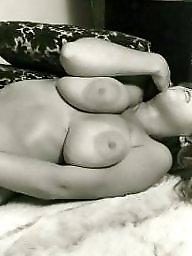 Vintage, White, White and black, Vintage boobs