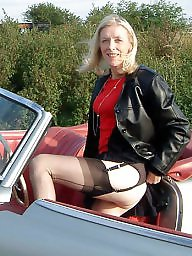 Vintage mature, Mature lady, Driving