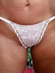 Strip, Garden, Stripping, Stripped, Brunette mature, Strips