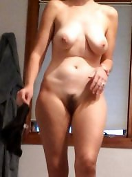 Wife, Hairy wife, Wife naked, Unaware