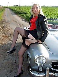 Vintage, Mature stockings, Vintage mature