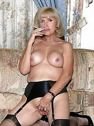 Older, Mature stockings, Ladies, Older mature