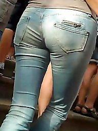 Ass, Voyeur, Candid, Teen ass