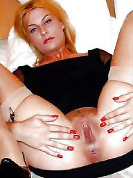 Spreading, Spread, Nylon, Mature spreading, Mature spread, Nylons