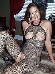 Fishnet, Amateur milf, Milf stockings