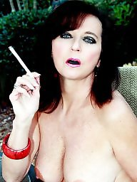 Smoking, Big mature, Mature boobs