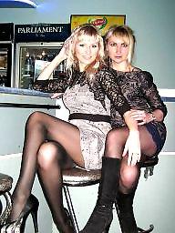 Heels, High heels, Tight, Upskirt stockings