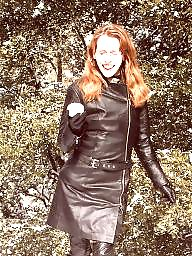 Boots, Leather, Latex, Pvc, Mature, Mature leather