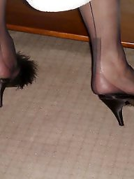 Nylon feet, Heels, Mature feet, Mature nylon, Mature nylons, Mature stockings