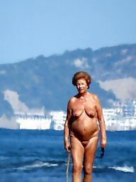 Beach, Grannies, Mature beach, Mature granny, Nude, Granny beach