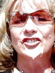 Granny, Mature facial, Granny facial, Mature facials, Cum covered