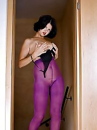 Tease, Tight, Teasing, Tights, Purple, Stockings tease