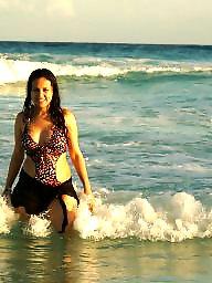 Beach, Mexico, Big amateur tits, Amateur big tits