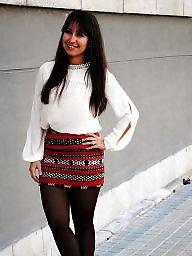 Nylon, Teen nylon, Street, Nylon teen, Nylon upskirt, Upskirt stockings