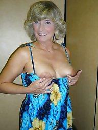 Mature tits, Busty mature, Busty milf, Posing, Mature posing, Mature busty