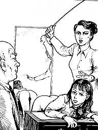 Teacher, Art, Bdsm cartoon, Bdsm art, Bdsm cartoons, Teachers