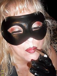 Behind, Mask, Blonde milf