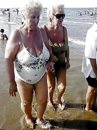 Beach, Granny beach, Big granny, Granny boobs, Granny big boobs, Busty